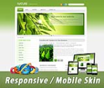 Mobile Skin 60067.06_Light Green Any Business*3 Free Modules_Clean Style_DNN5/6/7.x